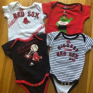 Red Sox bodysuits 3-6 months